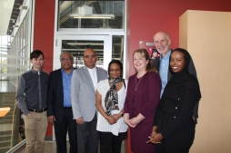Rashmi's Family with the Dean and Faculty.