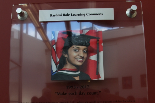 Rashmi's Memorial Plaque