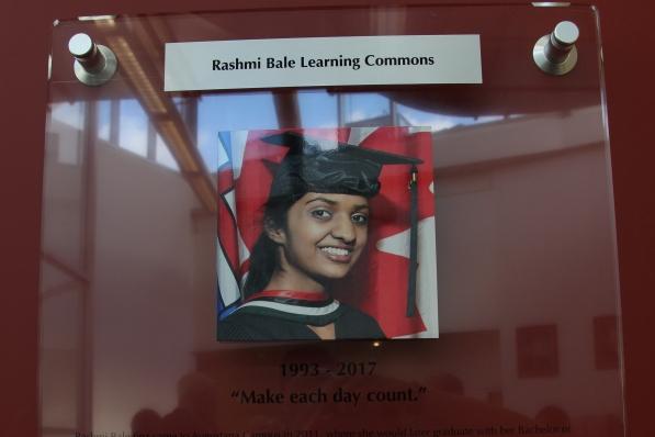 Rashmi's Memorial Plaque