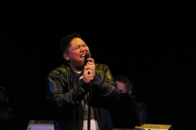 Jazz singer Bernard Quilala wowed the crowd at the Jeanne and Peter Lougheed Performing Arts Centre Oct. 12.