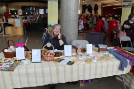 Photo by Sarah Laflamme. A booth at the Local Made and Fair Trade sale.