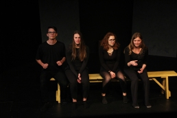 Augustana students took part in an improv class during the Augustana Winter 2019 three week and shared their final presentations with their class.