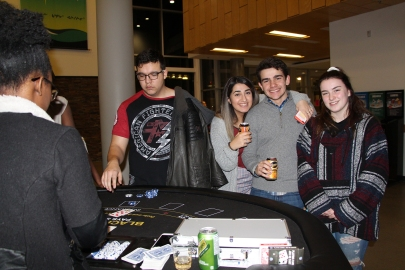 Students take a break from studying for finals to participate in the annual ASA Casino Night.