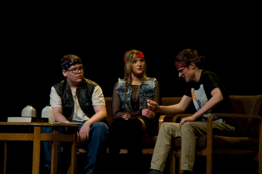 Actors from the Camrose Composite Playhouse performed their Series of One-Act Plays at the Jeanne and Peter Lougheed Performing Arts Centre Jan. 17.