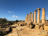 The Temple of Heracles in the Valley of the Temples in Sicily.