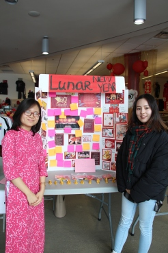 Students present tables with information about their countries during International Week from Feb. 4-8.